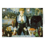 Bar at the Folies-Bergere, Manet, Vintage Fine Art Greeting Cards