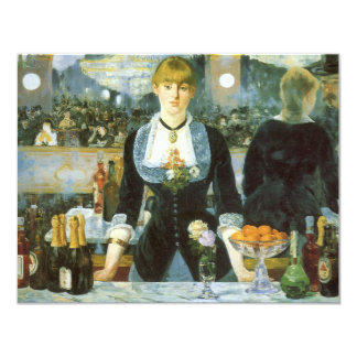 Bar at the Folies-Bergere, Manet, Vintage Fine Art Custom Invites