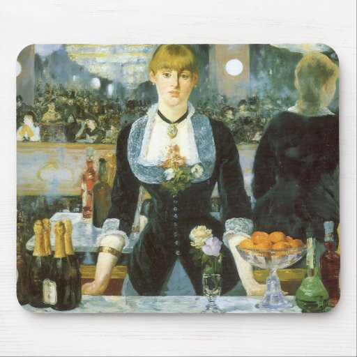 Bar at the Folies-Bergere, Manet, Vintage Fine Art Mousepad