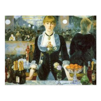 Bar at the Folies-Bergere, Manet, Vintage Fine Art Post Card