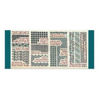 Bar/bat mitzvah, birth or graduation card 10 cm x 24 cm invitation card