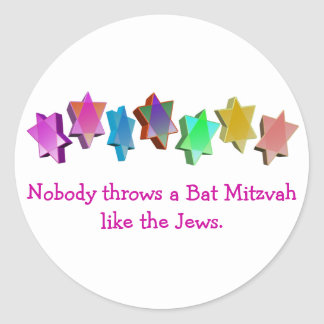Bar/Bat Mitzvah Classic Round Sticker