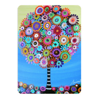 bar bat mitzvah TREE OF LIFE INVITATIONS