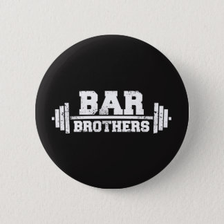 bar brothers gym workout team 6 cm round badge
