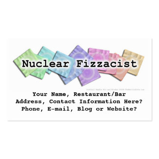 Bar Business Card - Nuclear Fizzacist