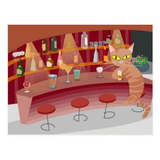 Bar cat postcard