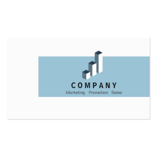 Bar Chart (baby blue) Pack Of Standard Business Cards