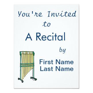 Bar Chimes, Orchestral Chimes, pit percussion 1 11 Cm X 14 Cm Invitation Card