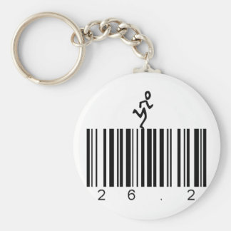 Bar Code 26.2 Basic Round Button Key Ring