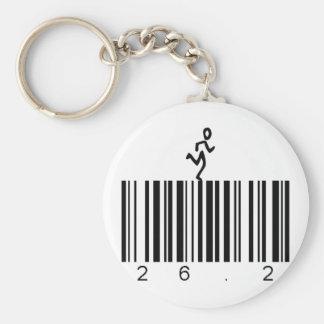 Bar Code 26.2 Key Ring