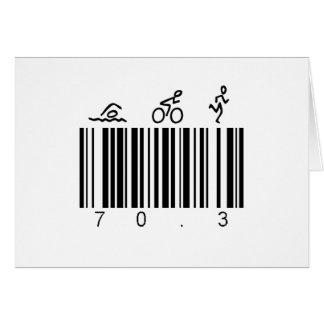 Bar code 70.3 card