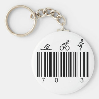 Bar code 70.3 key ring