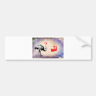 Bar Code Art Design Vector Fun Color Bumper Sticker