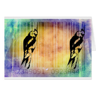 Bar Code Art Design Vector Fun Color Greeting Card