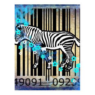 Bar Code Art Design Vector Fun Color Postcard