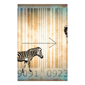 Bar Code Art Design Vector Fun Color Stationery Paper