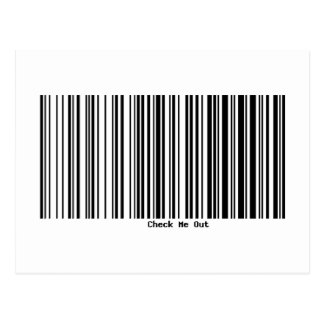 Bar Code CHECK ME OUT Postcard