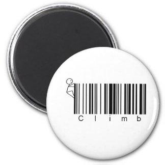Bar Code Climb 6 Cm Round Magnet