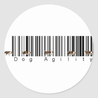Bar Code Dog Agility weave Stickers