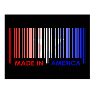 Bar Code Flag Color AMERICA Dark Design Postcard