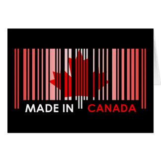 Bar Code Flag Color CANADA Dark Design Greeting Card