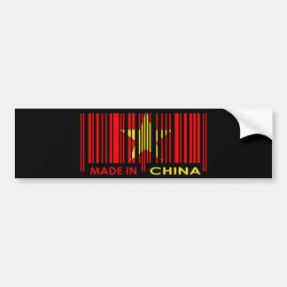 Bar Code Flag Colors CHINA Dark Design Bumper Sticker
