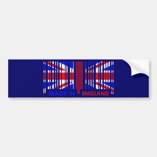 Bar Code Flag Colors ENGLAND Dark Design Bumper Sticker
