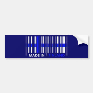 Bar Code Flag Colors FINLAND Design Bumper Sticker