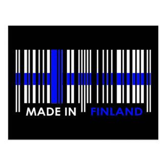 Bar Code Flag Colors FINLAND Design Postcard