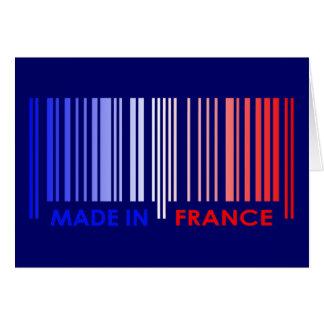 Bar Code Flag Colors FRANCE Design Greeting Card