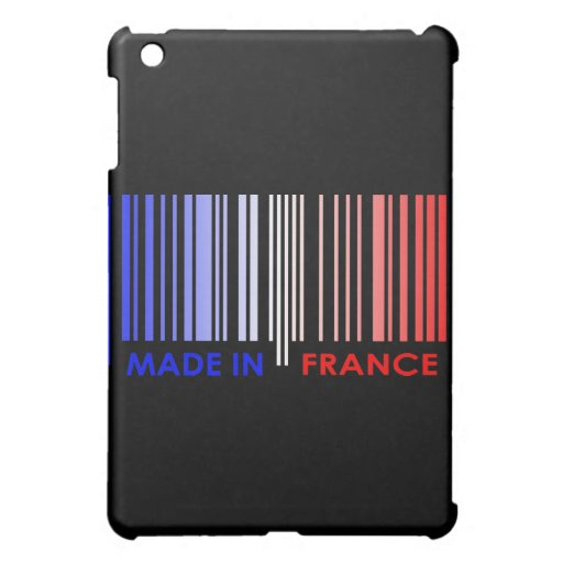 Bar Code Flag Colors FRANCE Design iPad Mini Covers