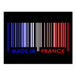 Bar Code Flag Colors FRANCE Design Postcard