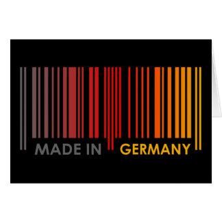 Bar Code Flag Colors GERMANY Dark Design Cards