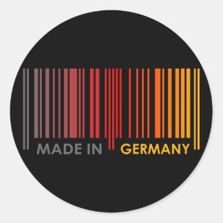 Bar Code Flag Colors GERMANY Dark Design Round Sticker