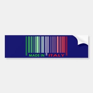 Bar Code Flag Colors ITALY Dark Design Bumper Sticker