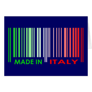 Bar Code Flag Colors ITALY Dark Design Card
