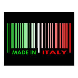 Bar Code Flag Colors ITALY Dark Design Postcard