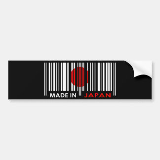 Bar Code Flag Colors JAPAN Dark Design Bumper Sticker