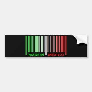 Bar Code Flag Colors MEXICO Dark Design Bumper Sticker
