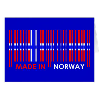 Bar Code Flag Colors NORWAY Design Cards
