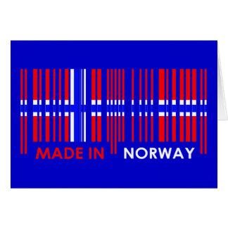 Bar Code Flag Colors NORWAY Design Greeting Card