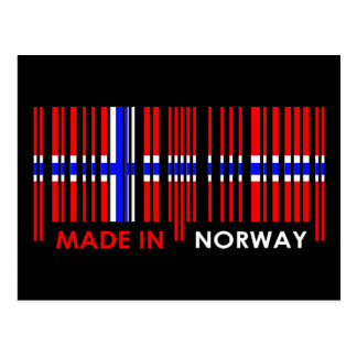 Bar Code Flag Colors NORWAY Design Postcards