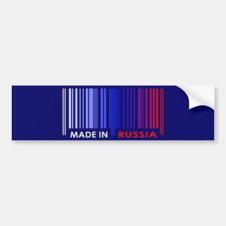Bar Code Flag Colors RUSSIA Dark Design Bumper Sticker