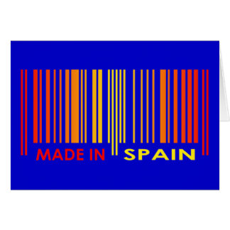 Bar Code Flag Colors SPAIN Design Greeting Card