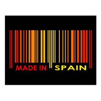 Bar Code Flag Colors SPAIN Design Postcard