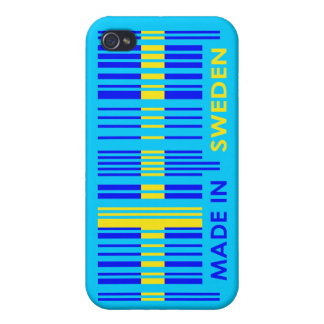 Bar Code Flag Colors SWEDEN Design iPhone 4/4S Covers