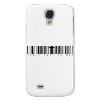 Bar Code Fully Rely On God Galaxy S4 Covers