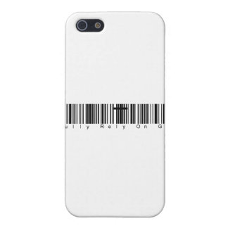 Bar Code Fully Rely On God Case For iPhone 5