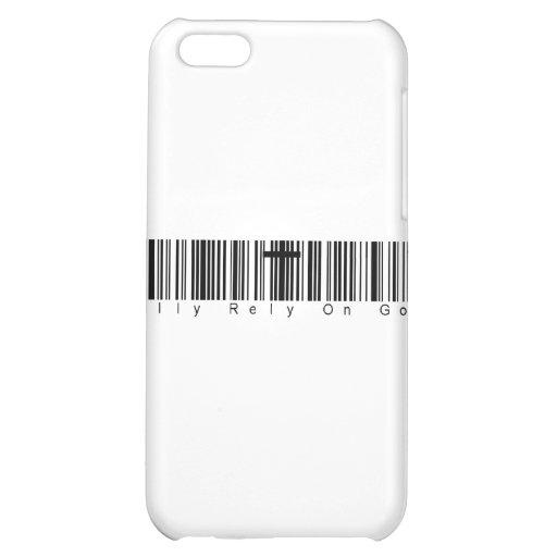 Bar Code Fully Rely On God iPhone 5C Case