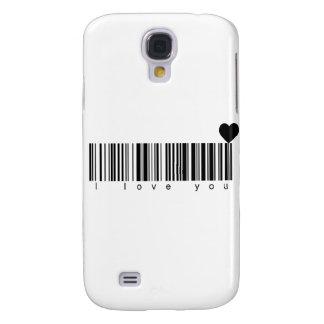 Bar Code I Love You Galaxy S4 Case